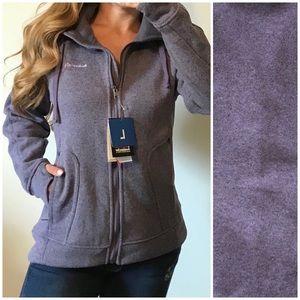 AVALANCHE NWT Full Zip Fleece Jacket Purple LARGE